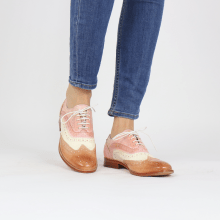 Oxford Schuhe Amelie 10 Vegas Light Rose White Pale Rose Skin