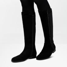 Stiefel Susan 31 Suede Black HS Beige Elastic Black HRS