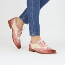 Oxford Schuhe Selina 56 Vegas Rose Pale Rose White