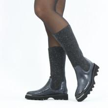 Stiefel Elena 9 Vegas Crock Navy Textile Brina