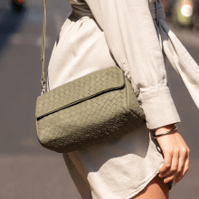 Handtaschen Kimberly 5 Woven Nappa Algae