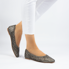 Ballerinas Melly 1 Weave Pewter