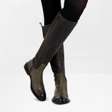 Stiefel Sally 63 Croco Suede Bosco Olive Strap Bosco New HRS Thick