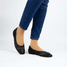 Ballerinas Melly 1 Open Weave Black