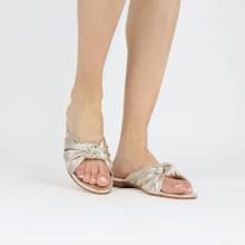 Pantoletten Hanna 63 Nappa Platin Footbed