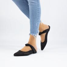 Pantoletten Alexa 15 Woven Black Glove Nappa