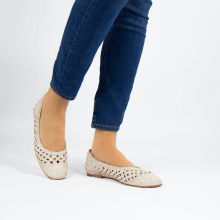 Ballerinas Melly 1 Weave Zero Natural
