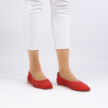 Ballerinas Melly 1 Open Weave Red
