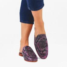 Pantoletten Scarlett 4 Snake Fuxia LS Natural