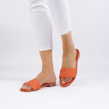 Pantoletten Hanna 26 Woven Light Orange