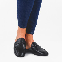 Pantoletten Scarlett 4 Crust Perfo Black LS Black