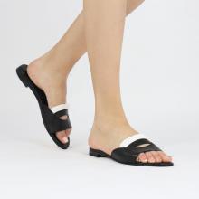 Pantoletten Hanna 81 Nappa Black Socks