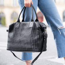 Handtaschen Kimberly 2 Woven Sheep Black