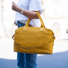 Handtaschen Kimberly 2 Woven Yellow
