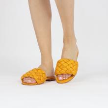 Pantoletten Hanna 78 Nappa Yellow Footbed