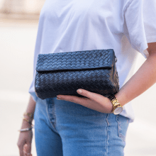 Handtaschen Kimberly 5 Woven Nappa Black
