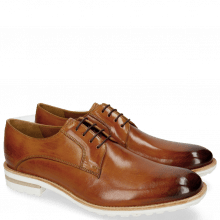 Derby Schuhe Eddy 8 Tan Aspen White