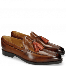 Loafers Leonardo 1 Wood Tassel Winter Orange
