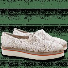 Derby Schuhe Cyrine 1 Woven PR 2603 White XL Malden White