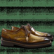 Derby Schuhe Marvin 1 Cedro Toe Shade Dark Brown LS Gold