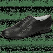 Oxford Schuhe Sonia 1 Nappa Perfo Black