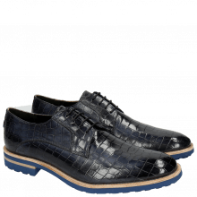 Derby Schuhe Eddy 8 Crock Navy Crip Blue