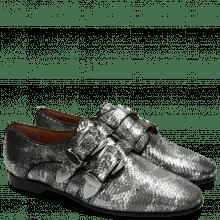 Monk Schuhe Scarlett 12 Snake Silver Buckle