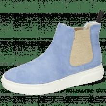 Stiefeletten Hailey 2 Parma Suede Greek Blue Elastic Lino