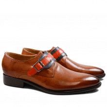Monk Schuhe Riley 2 Crust Tan Navy Orange HRS