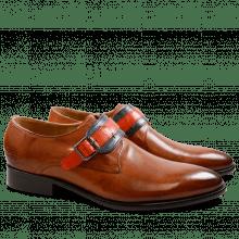 Monk Schuhe Riley 2 Crust Tan Navy Orange HRS