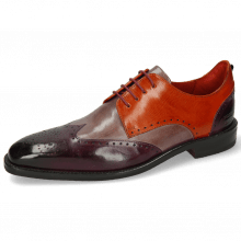 Derby Schuhe Dave 2 Viola Pale Lila Winter Orange