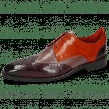 Derby Schuhe Dave 2 Viola Pale Lila Winter Orange