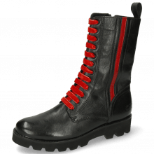 Stiefel Bonnie 28 French Nappa Black Salerno Red