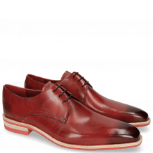 Derby Schuhe Lance 24 Red Lasercut Crown