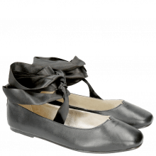 Ballerinas Melly 4 Nappa Black Ribbon