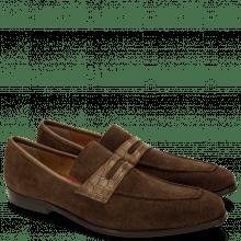 Loafers Lance 25 Suede Pattini Crock Dark Brown