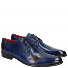 Derby Schuhe Toni 19 Electric Blue Stars Ash