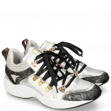 Sneakers Romy 1 Hairon Breeze Cromia Talca Perfo Silver Milled White
