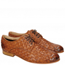 Derby Schuhe Sally 13 Woven Nappier Tan