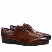 Derby Schuhe Lewis 9 Crock Wood LS Brown