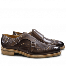 Monk Schuhe Tom 5 Milano Stone Rivets Mixed Crepe