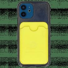 iPhone Hülle Twelve Vegas Navy Wallet Fluo Yellow