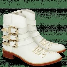 Stiefeletten Blanca 3 White Rivets Gold