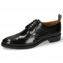 Derby Schuhe Betty 16 Black Backstrap