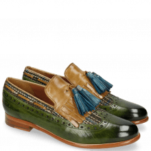 Loafers Selina 3 Ultra Green Textile Bambino Olivine Tassel