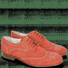 Derby Schuhe Sally 53 Perfo Fiesta