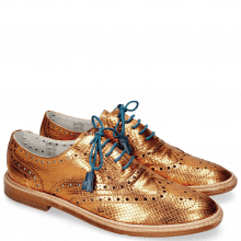 Oxford Schuhe Monica 4 Glitter Orange