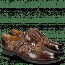 Monk Schuhe Selina 1 Mogano Textile Orange