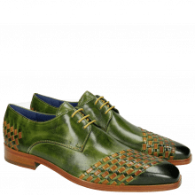 Derby Schuhe Lewis 24 Classic Green Interlaced Yellow LS
