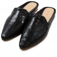 Pantoletten Joolie 10 Little Woven Black LS Natural